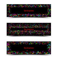 modern creative three times business brochure vector image