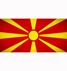 national flag macedonia vector image