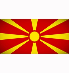 National flag of Macedonia vector image