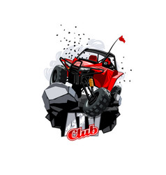 Off-road atv buggy logo club vector