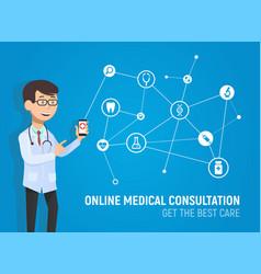 Online medicine consultation vector