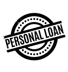 Personal Loan rubber stamp vector