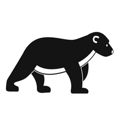 polar bear kid icon simple style vector image
