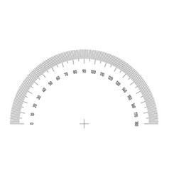 protractor grid for measuring angle or tilt 180 vector image