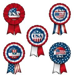 Ribbon USA vector image