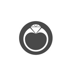 ring icon flat design best icon vector image