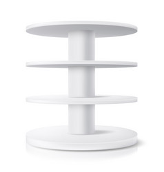 Round stand shop display shelf isolated realistic vector