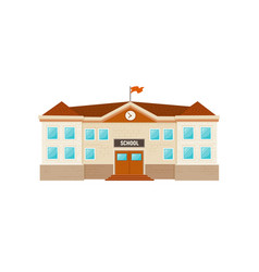 school building isolated vector image