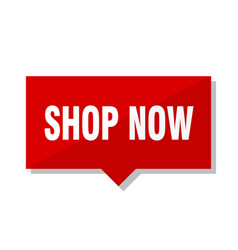Shop now red tag vector