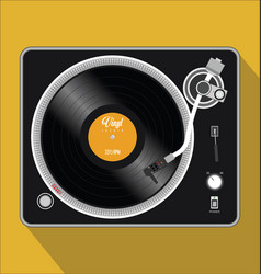 Simple black and white turntable vector