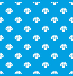 sweater pattern seamless blue vector image