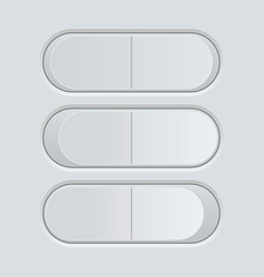 Switch button blank gray pushing button vector