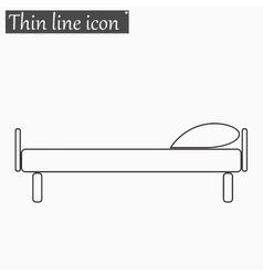 The bed icon Style thin line vector image