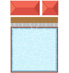 top view swimming pool on white background vector image