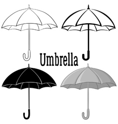 Umbrella Symbol Set vector image