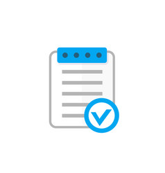 Valid document icon flat style vector