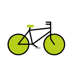 vintage bycicle vehicle vector image