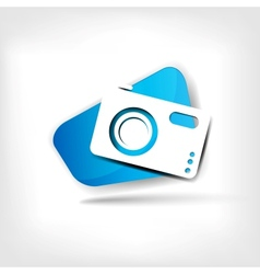 Web icon of photo camera vector image