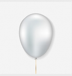 white balloon realistic style vector image