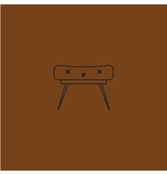 armchair in flat outline vector image vector image