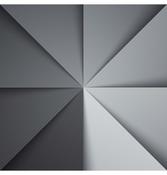 Gray and white tones folded paper triangles vector image