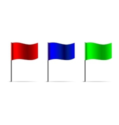 3d flags vector image