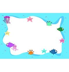 Aqua frame background vector image