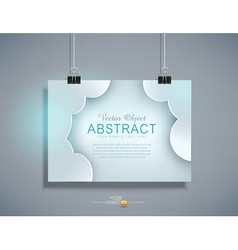 grey template for design hanging on the wall vector image