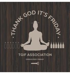 Happy friday thank god it is friday vector