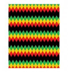 pattern rastafarian vector image vector image