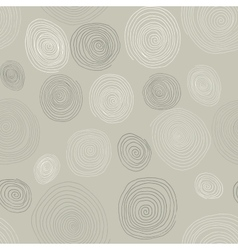 Stylized wooden spirals hand drawn seamless vector image vector image