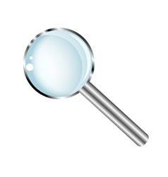 Transparent magnifying glass vector image