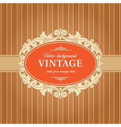 Vintage Background Frame Template vector image vector image