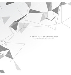 white abstract triangles background vector image vector image