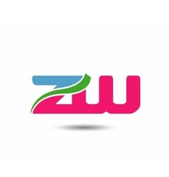 Alphabet Z and W letter logo vector image vector image