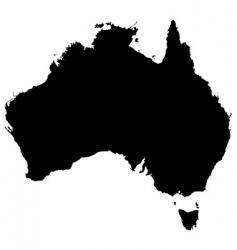 australia detailed map vector image vector image