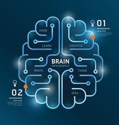 infographics brain design diagram banner line vector image