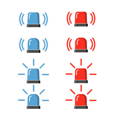 police flasher siren set vector image
