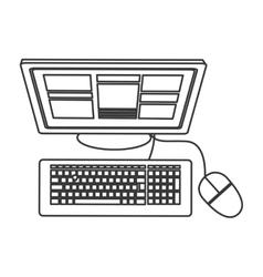 computer topview icon vector image