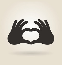 Hand Gesture a Sign of Heart vector image vector image
