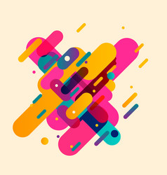 Modern abstract composition from rounded shapes vector