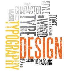 Typography background vector