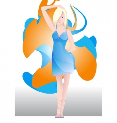 young woman vector image vector image