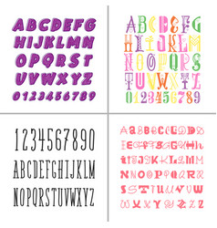 a set decorative fonts for lettering and design vector image