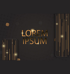 abstract geometric background with golden lines vector image
