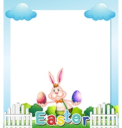An Easter Sunday empty card template vector image
