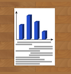 Annual report file vector