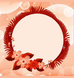 background design with red flowers vector image