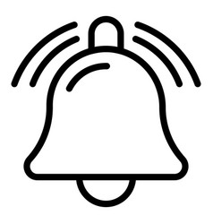 Bell notification sound icon outline style vector