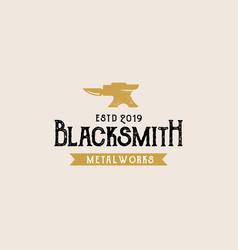 Blacksmith vintage logo template vector